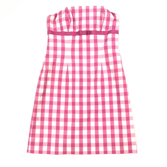 Lilly Pulitzer Dresses & Skirts - Lilly Pulitzer pink and white gingham dress sz 0